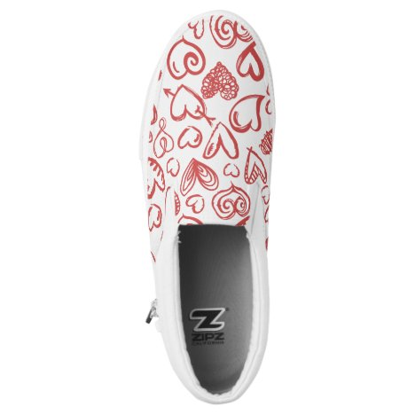 Pattern Heart Love Romance Valentine's Day Wedding Slip-On Sneakers