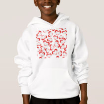 Pattern illustration peace doves with heart hoodie