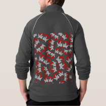 Pattern illustration peace doves with heart jacket