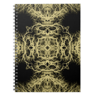 Pattern in Black and Gold Color. Spiral Note Books