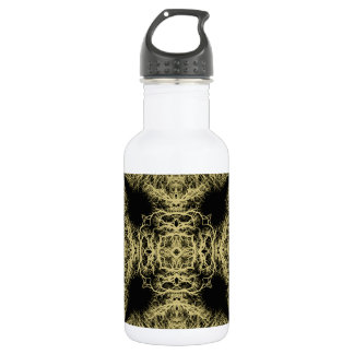 Pattern in Black and Gold Color. Water Bottle
