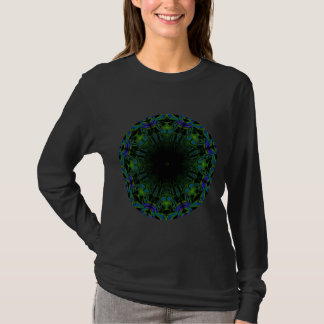 Pattern in Black and Peacock Colors. T-Shirt