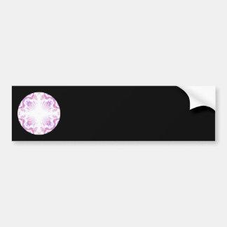 Pattern in Black, White, Orange and Purple. Bumper Sticker