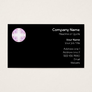 Pattern in Black, White, Orange and Purple. Business Card