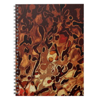 Pattern in Blown Glass Spiral Notebook