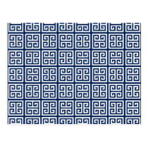 Pattern in Blue & White Postcard