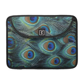 Pattern in male peacock feathers MacBook pro sleeves