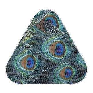 Pattern in male peacock feathers bluetooth speaker