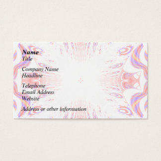 Pattern in Red, Orange and Purple. Business Card