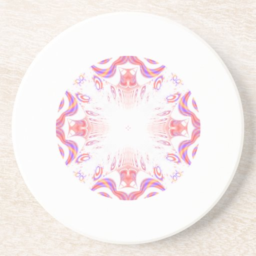 Pattern in Red, Orange and Purple. Drink Coasters