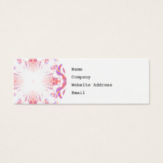 Pattern in Red, Orange and Purple. Mini Business Card