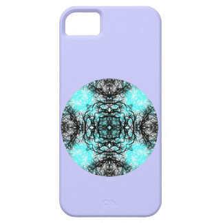 Pattern in Turquoise and Black, on Lilac Purple. iPhone SE/5/5s Case