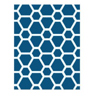 Pattern JOE,blue Letterhead Template