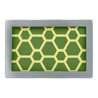 pattern JOE,green Rectangular Belt Buckle