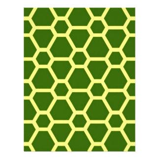 pattern JOE,green Customized Letterhead
