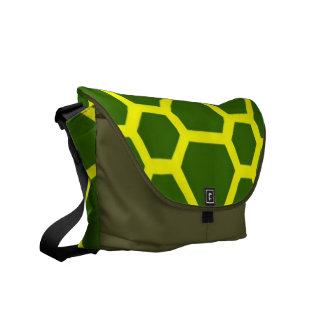 pattern JOE,green Messenger Bags