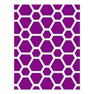 pattern JOE,purple Letterhead Template