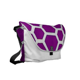 pattern JOE,purple Courier Bag