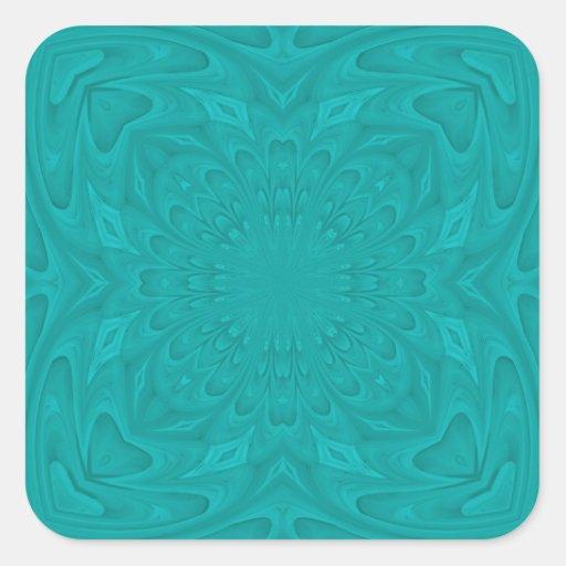 pattern.jpg de madera abstracto azul pegatina cuadrada