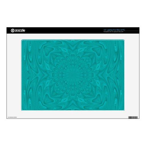 pattern.jpg de madera abstracto azul 33cm portátil calcomanías
