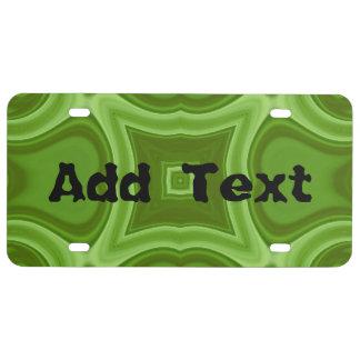 pattern.jpg de madera abstracto verde placa de matrícula