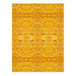 Pattern.jpg De oro-Amarillo imperial Postales