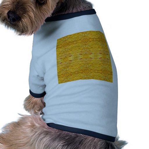 Pattern.jpg De oro-Amarillo imperial Camisa De Mascota
