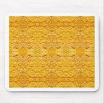 Pattern.jpg De oro-Amarillo imperial Tapete De Raton