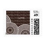 Pattern - Kaleidoscope Love - Brown Postage Stamp