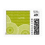 Pattern - Kaleidoscope Love - Green Postage Stamps
