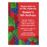Pattern - Kids Building Blocks Birthday Party Personalized Invitation