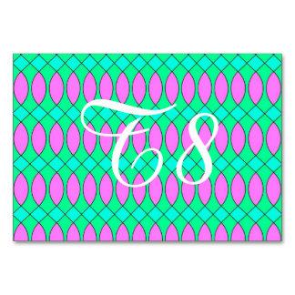 Pattern Kuki,pink Table Card