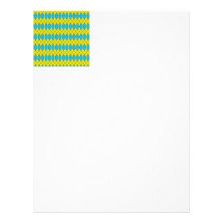 Pattern Kuki,yellow Customized Letterhead