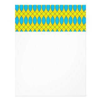 Pattern Kuki,yellow Letterhead Design