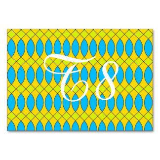 Pattern Kuki,yellow Table Card
