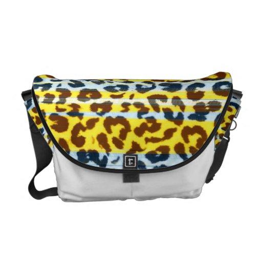 Pattern leopard fur abstract texture 2 commuter bag