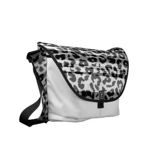 Pattern leopard fur abstract texture 3 messenger bag