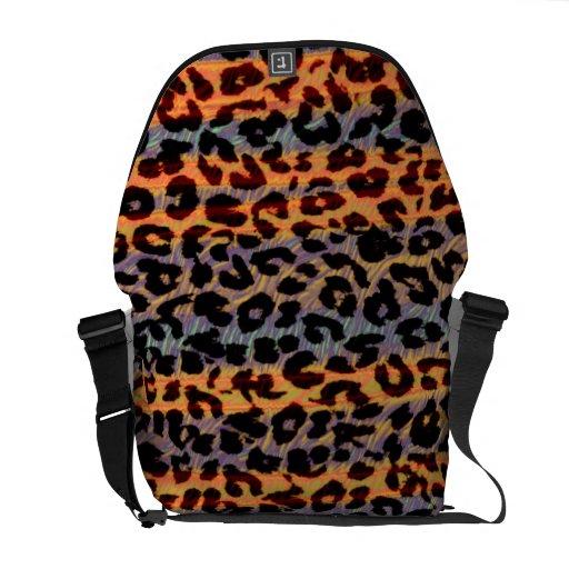 Pattern leopard fur abstract texture 4 commuter bag
