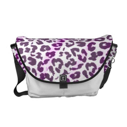Pattern leopard fur abstract texture messenger bag