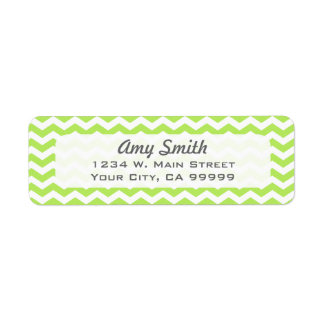 Pattern Lime Green Chevron Zigzag Modern Label