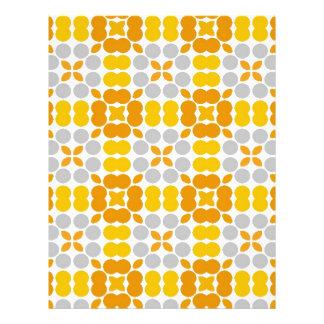 Pattern LUISE yellow Custom Letterhead