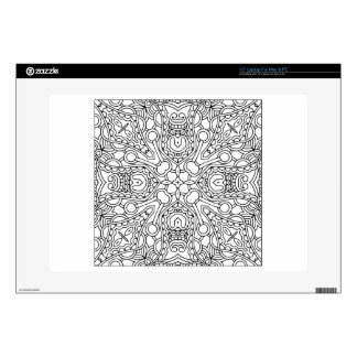 "Pattern Mandala Decals For 15"" Laptops"