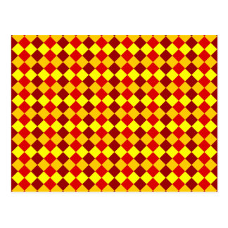 PATTERN ME THIS! (red - yellow squares) ~ Postcard