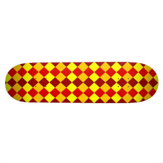 PATTERN ME THIS! (red - yellow squares) ~ Custom Skateboard