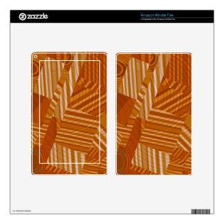 pattern mix, orange skins for kindle fire