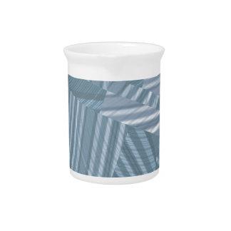 pattern mix, silver drink pitcher
