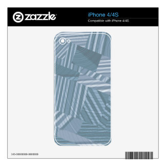 pattern mix, silver iPhone 4 skin