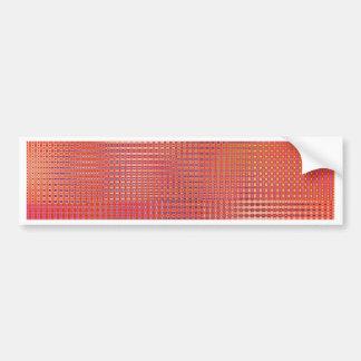 pattern mix soft orange designed by Tutti Bumper Sticker