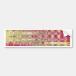 pattern mix soft rose designed by Tutti Bumper Sticker