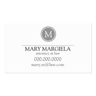 Pattern Monogram Business Card (Slate)